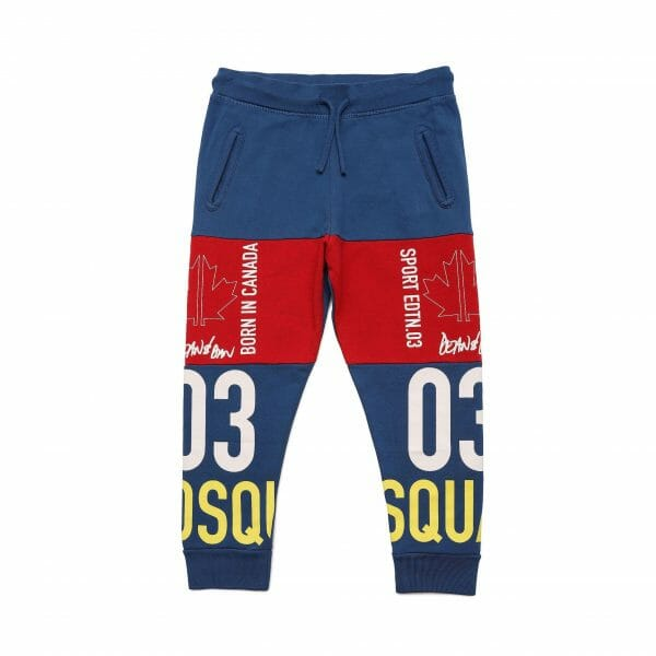 Colour Block Joggers With Logo Mix