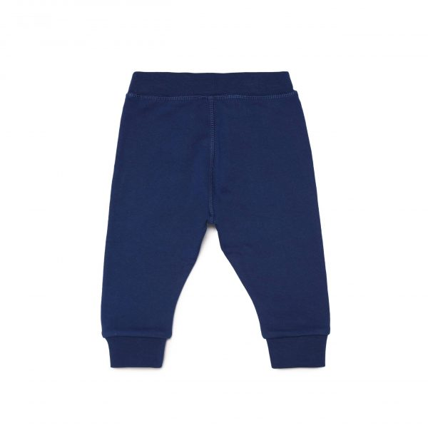 Blue Joggers With Side Stripe