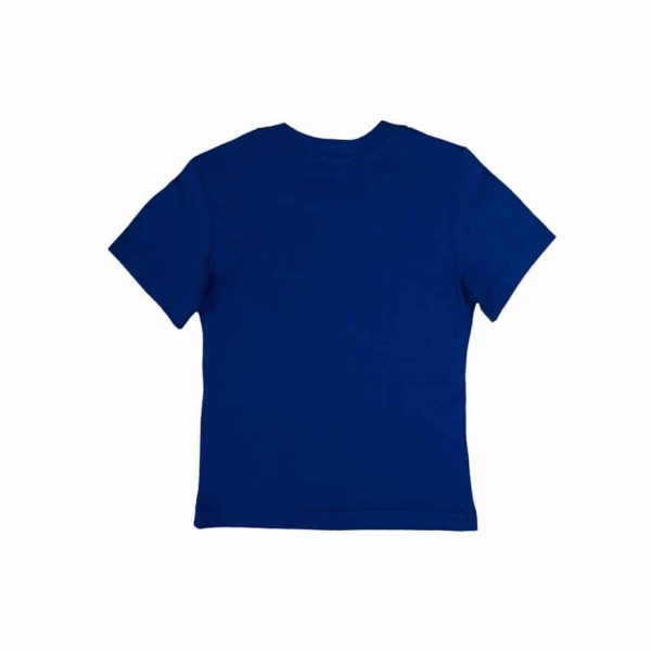 Blue T-Shirt With White Logo