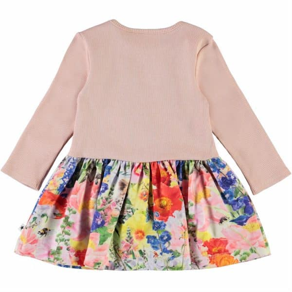 Baby Dress With 'Hide and Seek' Print Skirt