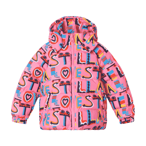 Puffer With Stella Loves Print