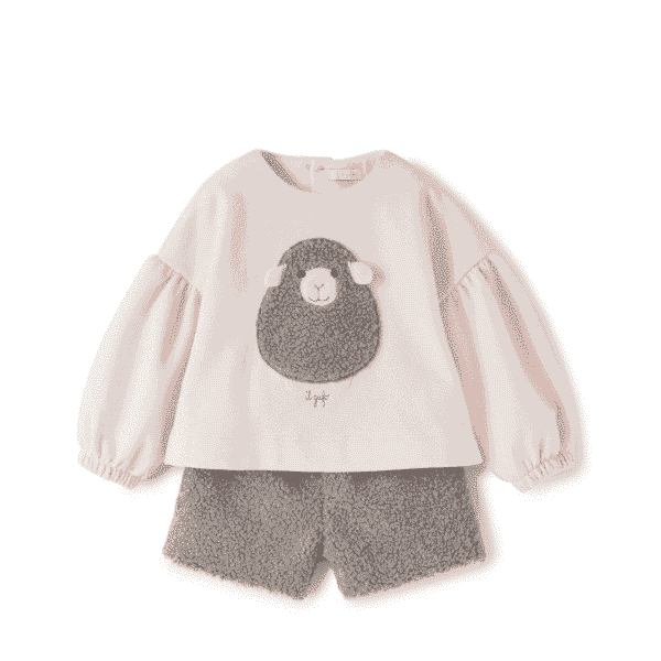 Baby Set With Sheep Application