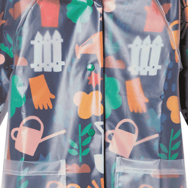 Parka With Gardening Print
